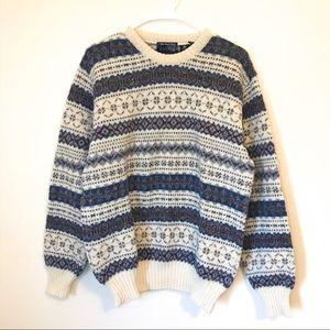 Lord & Taylor 100% Virgin Wool Chunky Knit Sweater